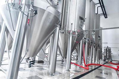 Brauerei-Kessel von Kaspar Schulz geschweißt mit REHM Schweißanlagen