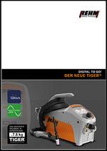 Tragbares WIG-Schweißgerät TIGER® mit digitalem Vollfarbdisplay