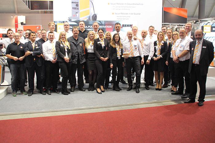 Das gesamte REHM-Team der Messe Schweisstec 2017 in Stuttgart