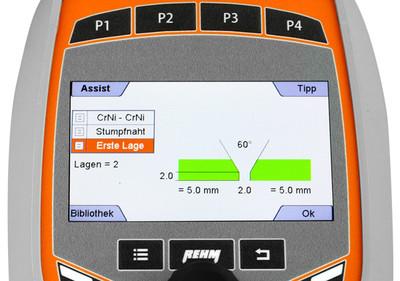 Die Assist-Funktion des TIGER digital von REHM Welding Technology