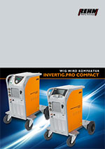 Brochure download of stationary TIG welding machines with 240 to 450 Ampere