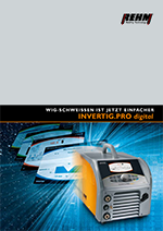 Brochure download of TIG welding machine with full color display and 240 to 450 Ampere