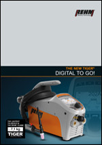 Brochure download of portable TIG welding machine with 180 to 230 Ampere