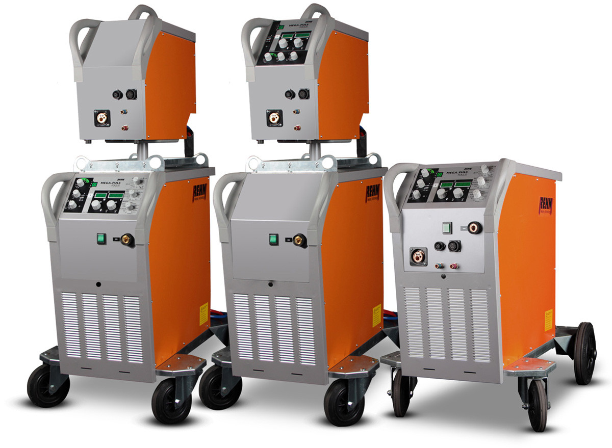High-Tech welding machine MEGA.PULS FOCUS with impuls arc by REHM Welding Technology