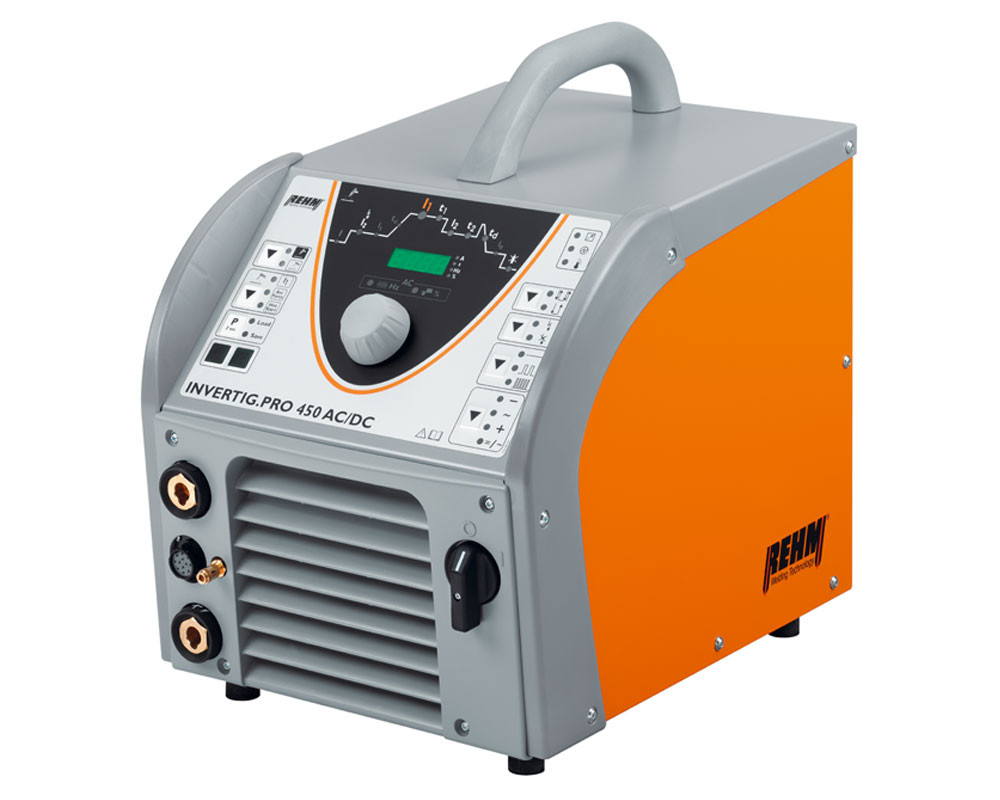 TIG welding machine INVERTIG.PRO with REHM DUAL.WAVE technology for aluminum