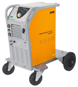 Mobile TIG welding machine INVERTIG.PRO COMPACT with 240 Amp AC/DC