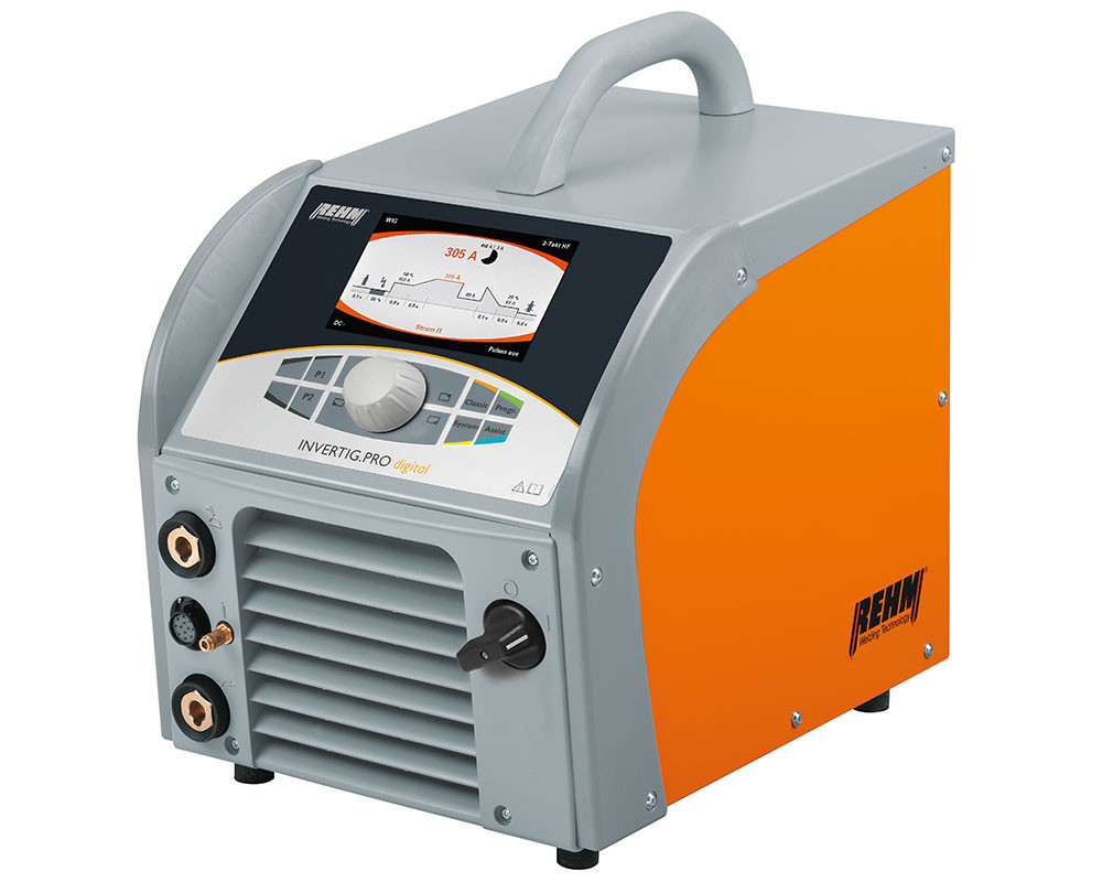 TIG welding machine INVERTIG.PRO digital with REHM DUAL.WAVE technology