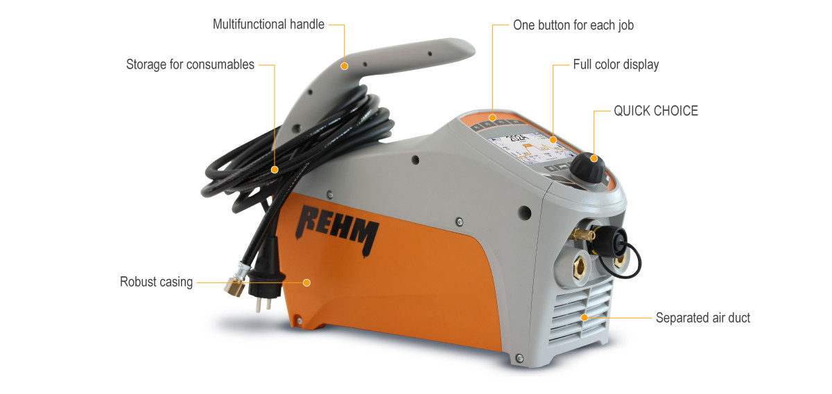 TIG welding machine TIGER digital with full color display
